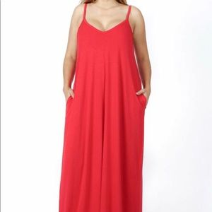 RUBY CAMI MAXI DRESS WITH SIDE POCKETS